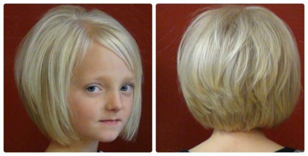 стрижка для девочки: стрижка боб челка косая