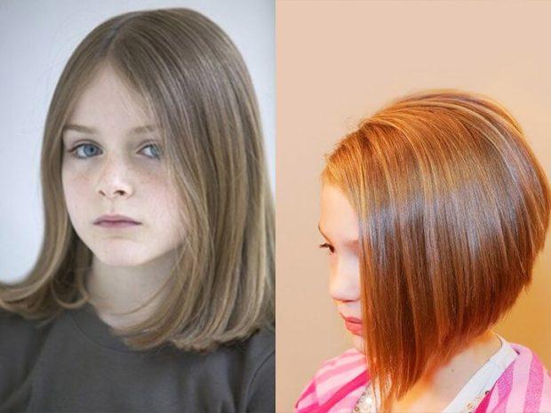 стрижки для девочек: каре удлиненное каре асимметрия