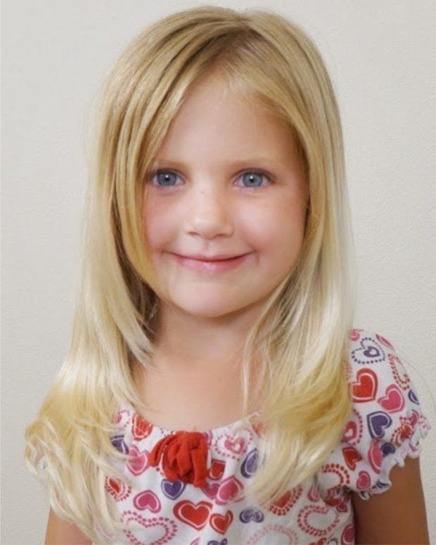 прическа для девочки: удлиненная лесенка
