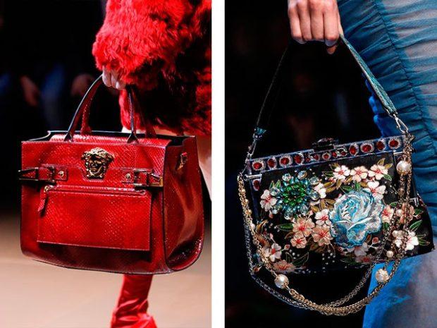 сумки летние красная в цветы