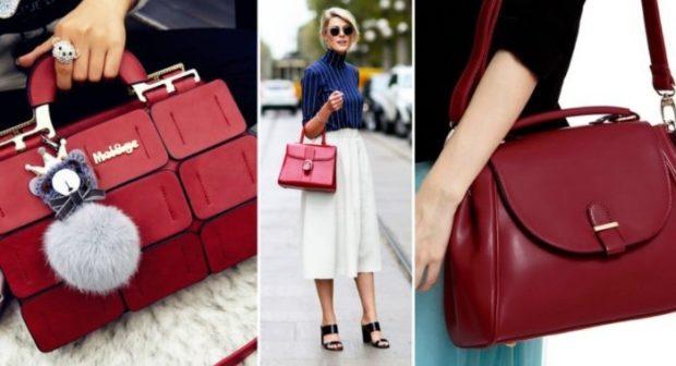 сумки летние бордовые разной формы