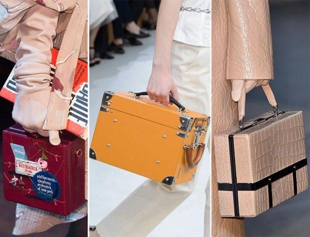 сумки-чемоданы красная желтая бежевая