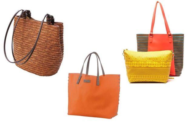 летние сумки плетеная коричневая оранжевая кожа желтая серая с красным в дырочку