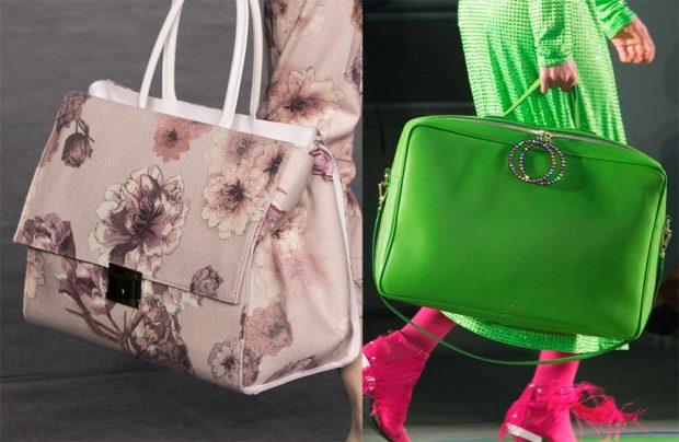 модные сумки лето 2021: большие в принт салатовая