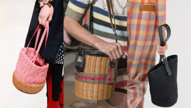 сумки плетеные летние в форме боченка