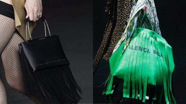 сумки летняя черная зеленая с бахромой