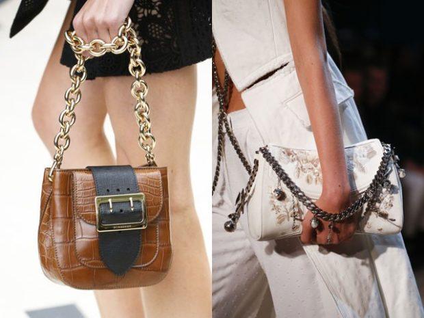 сумки маленькие летние коричневая белая с принтом на цепочках
