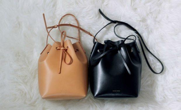 сумка-кисет коричневая черная кожа