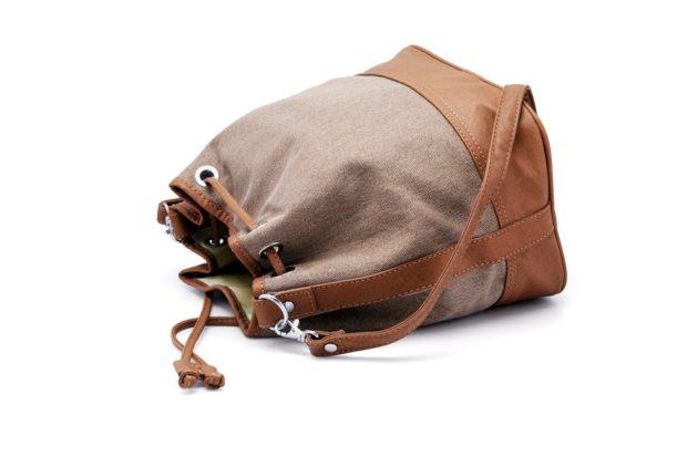 сумка-кисет коричневая