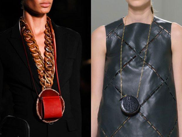 сумки-лилипуты красная прямоугольная круглая черная