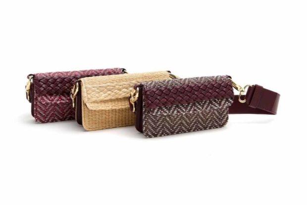 сумки-лилипуты в форме клатча бордовая песочная красная
