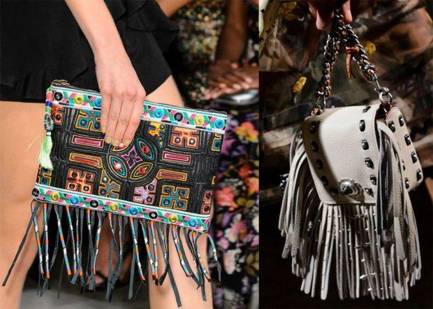 сумки с бахромой цветные серая