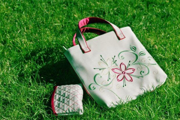 сумка текстильная с принтом