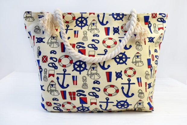 сумка текстильная морская тема