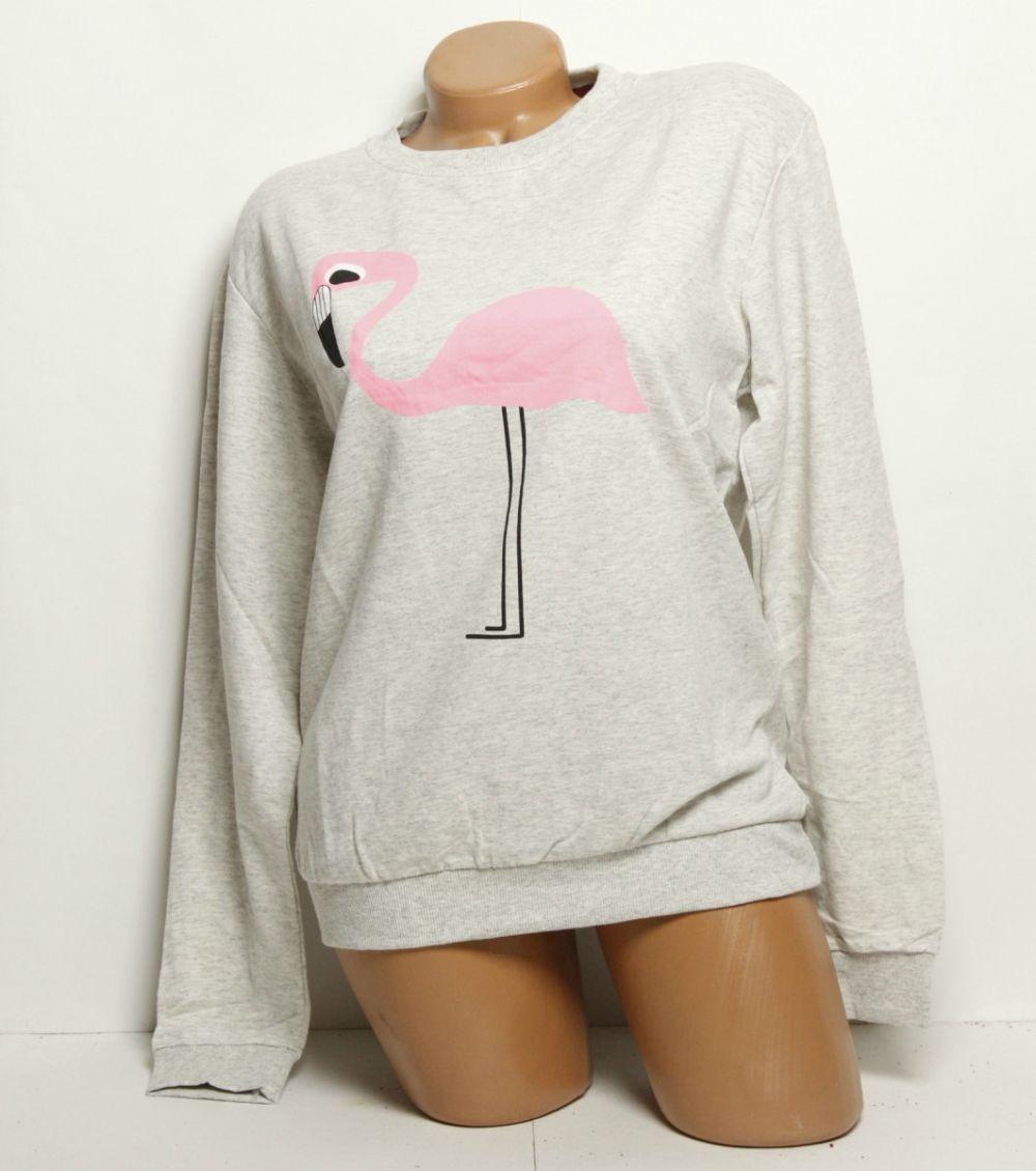 трикотажный свитер с фламинго