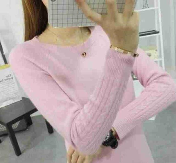 розовый шерстяной