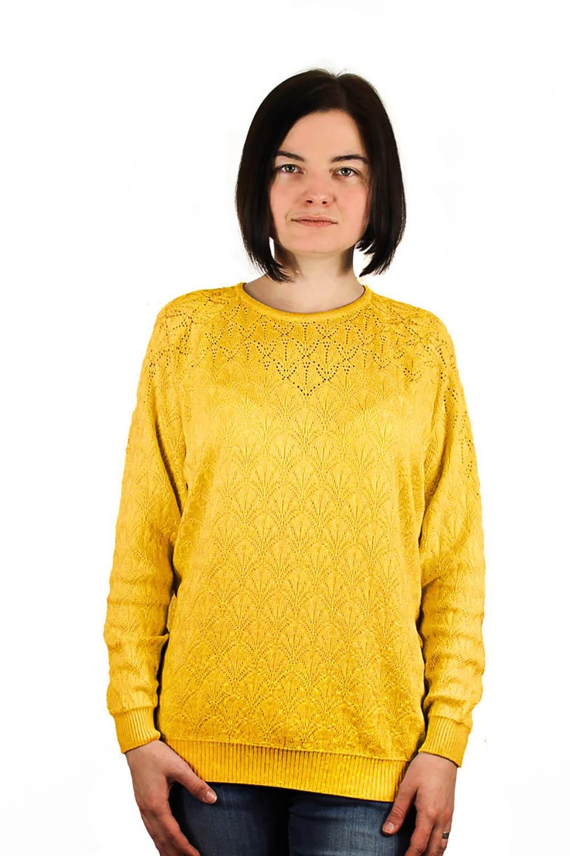джемпер желтый в узор