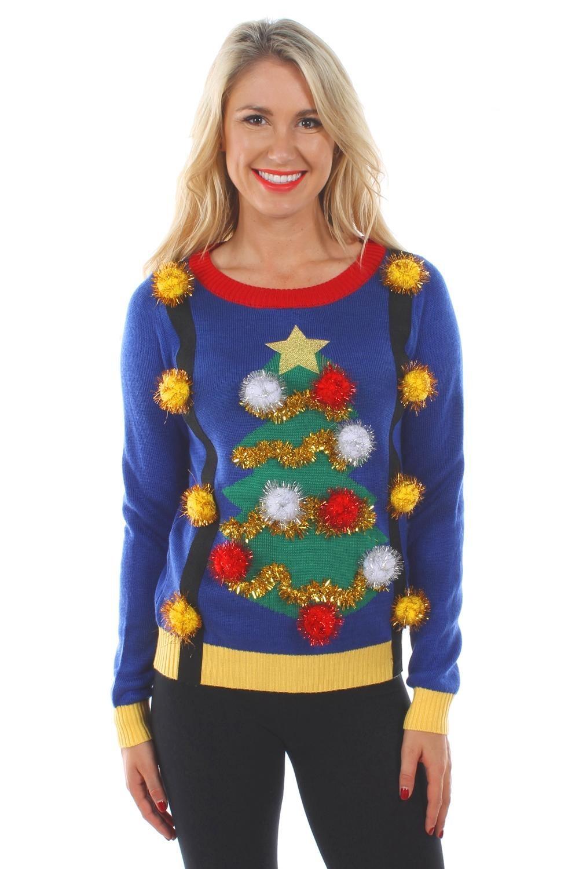 свитер с коллаборацией елки