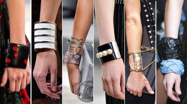 огромные браслеты из камней кожи металла