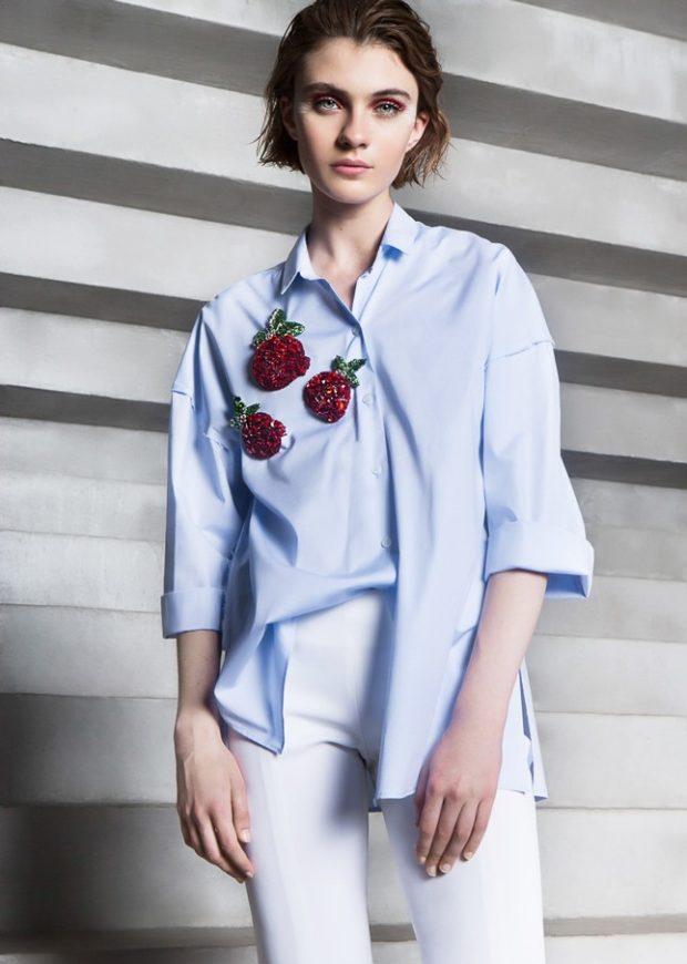 модная бижутерия 2019-2020: брошки из красных камней в виде клубнички