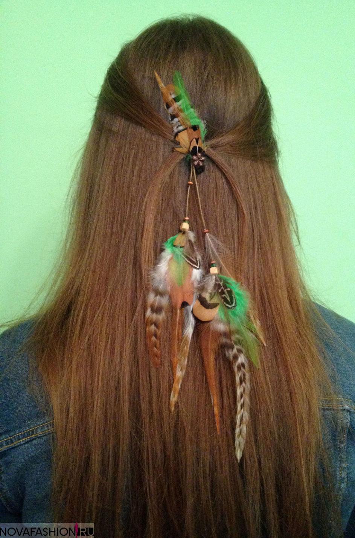 украшение для волос перья