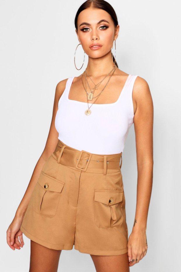Модные шорты 2019 лето: коричневые