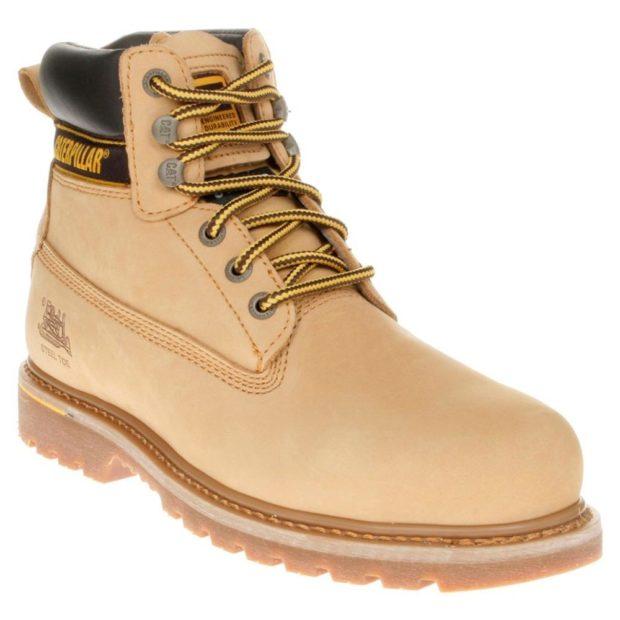 мужская обувь осень зима 2019-2020: ботинки бежевые на шнуровке