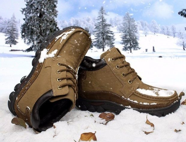 мужская обувь осень зима 2018-2019: ботинки коричневые на шнурках
