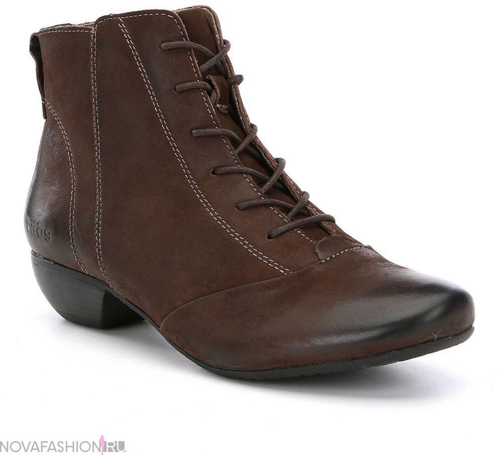 ботинки коричневые осень на каблуке
