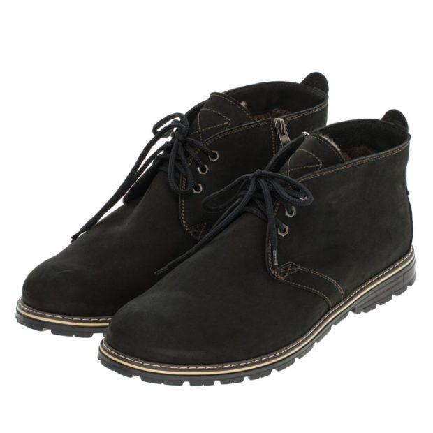 модная мужская обувь осень зима 2018-2019: ботинки нубук короткие на шнурках