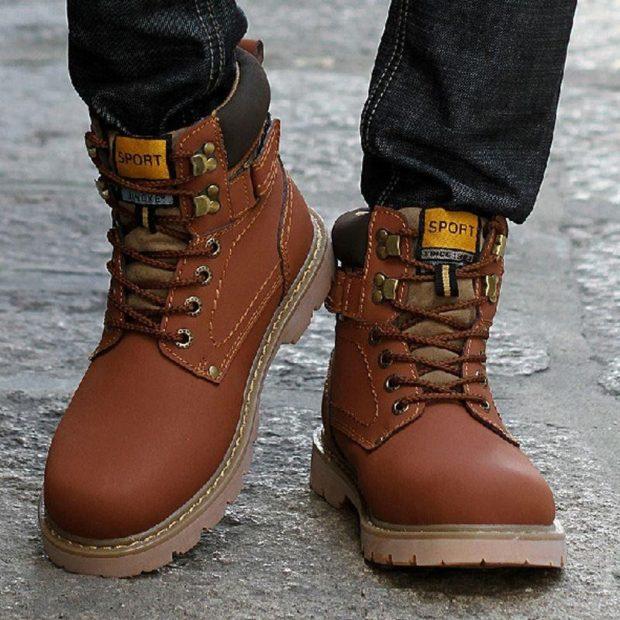 мужская обувь осень зима 2018-2019: ботинки коричневые