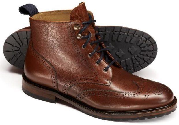 модная мужская обувь осень зима 2018-2019: коричневые ботинки высокие на шнурках