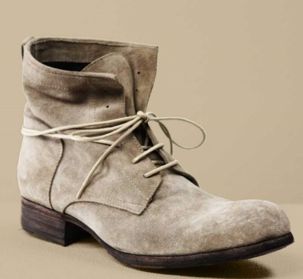 модная мужская обувь осень зима 2018-2019: ботинки светло-серые