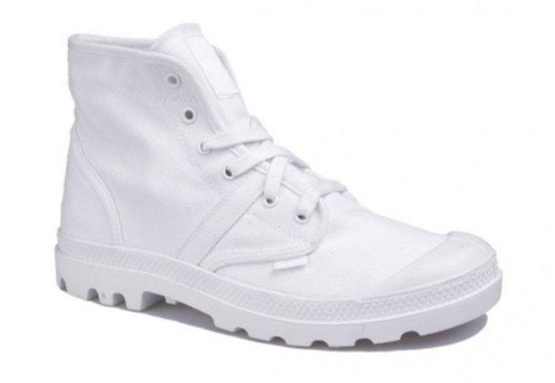 модная мужская обувь осень зима 2018-2019: ботинки белые на толстой подошве
