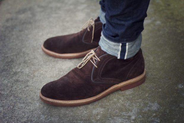 мужская обувь осень зима 2018-2019: замшевые ботинки на шнурках