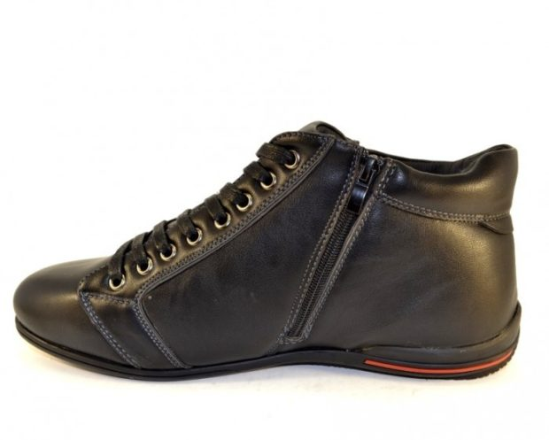 модная мужская обувь осень зима 2018-2019: ботинки на шнуровке короткие со змейкой