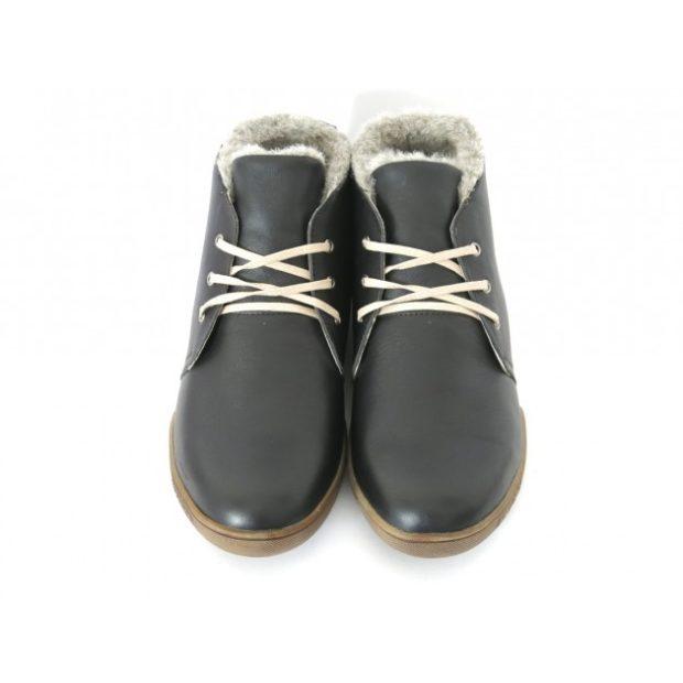 зимняя обувь мужская 2018-2019: ботинки на шнуровке лаковые с мехом внутри