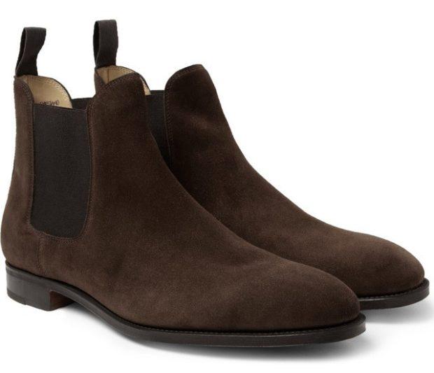 зимняя обувь мужская 2019-2020: ботинки-челси коричневые нубуковые