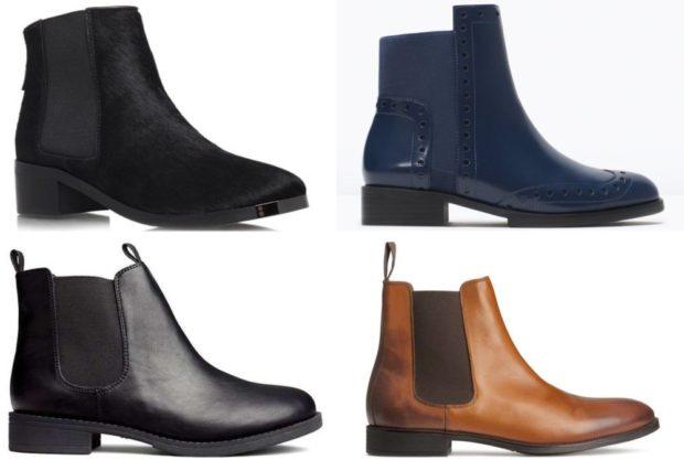 зимняя обувь мужская 2018-2019: ботинки-челси черные синие черные с резинкой в тон коричневые с резинкой в тон