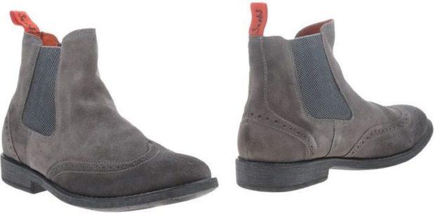 зимняя обувь мужская 2018-2019: ботинки-челси серые