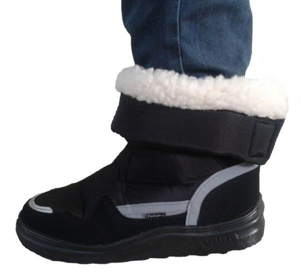 модная мужская обувь осень зима 2018-2019: дутики короткие с мехом внутри
