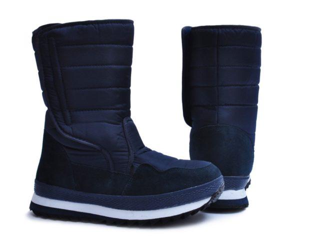 модная мужская обувь осень зима 2018-2019: дутики темно-синие