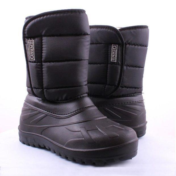 модная мужская обувь осень зима 2018-2019: дутики черные