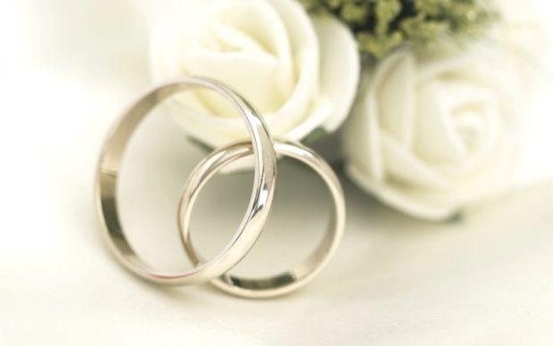 кольца классические белое золото