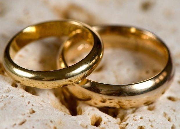 кольца классические из желтого золота