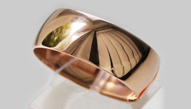 кольцо классическое широкое форма бочонок
