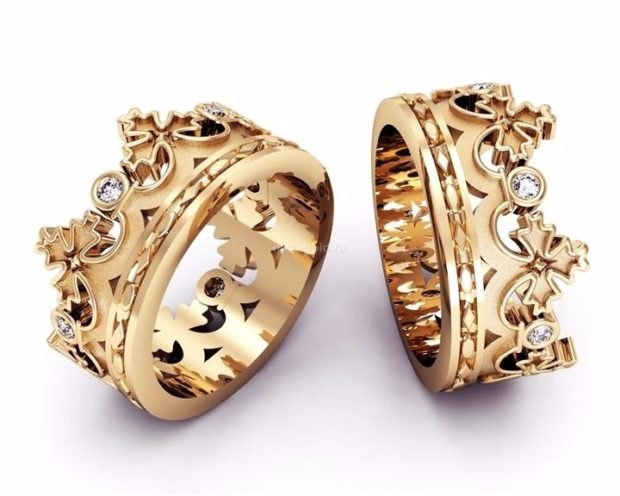 Обручальные кольца 2020: на свадьбу в виде короны