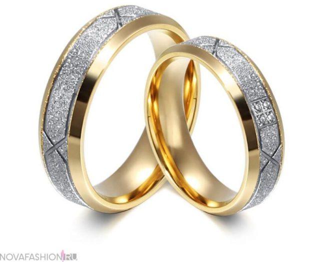 кольца обручальные с огранкой