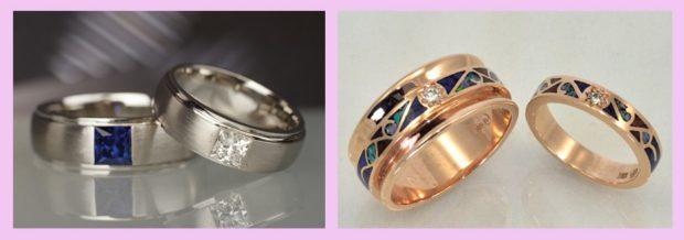 кольца обручальные с камнями
