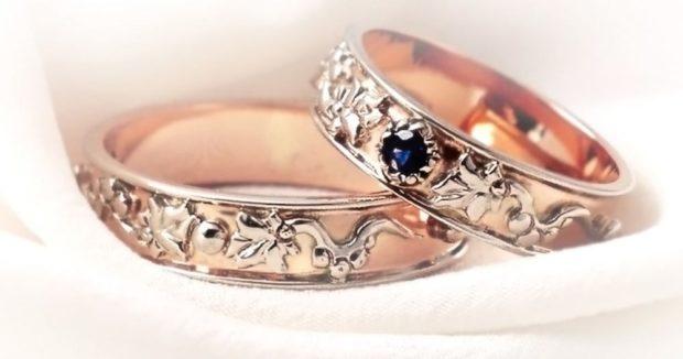 Обручальные кольца 2020-2021: на свадьбу золотое ажурное мужское ажурное женское с камешком